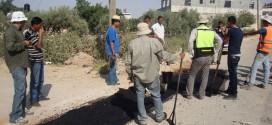 البدء بتنفيذ مشروع شبكة المياه في قرية قصرة