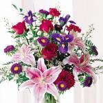 184-Stunning-Beauty-Bouquet---Roses,-Iris,-Stargazer-Lilies,-Carnations,-Asters